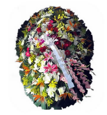 Coroa de Flores Elegance C | Coroas em uma hora